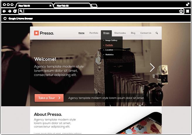 Pressa Website re-design